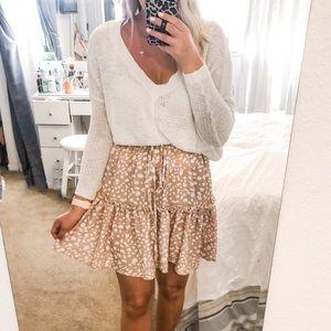 Tan Leopard Skirt